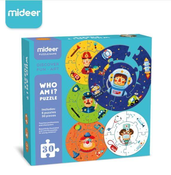Who Am I Puzzle - 6 Puzzles