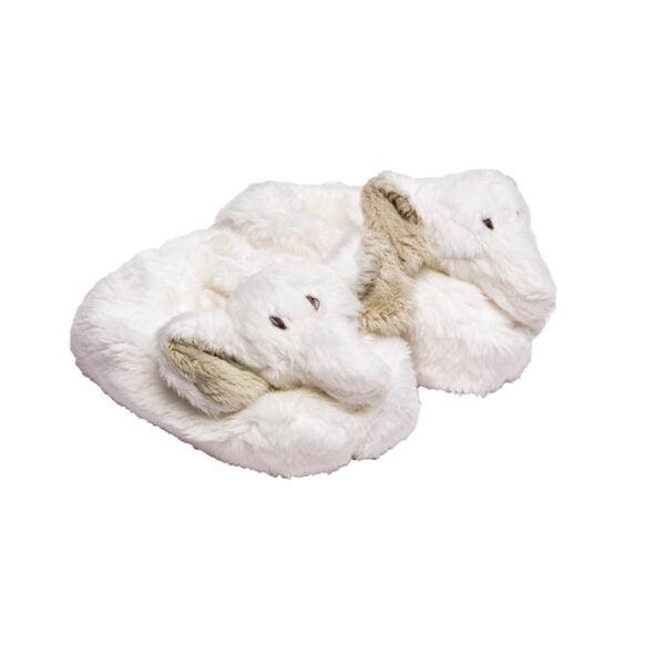 White Ellie Slippers
