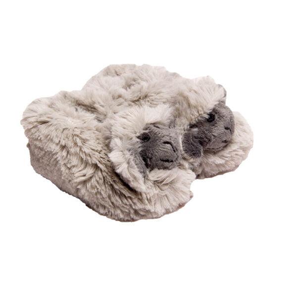 Grey Chubby Sheep Slippers
