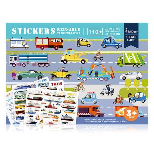 Reusable Stickers - Transport