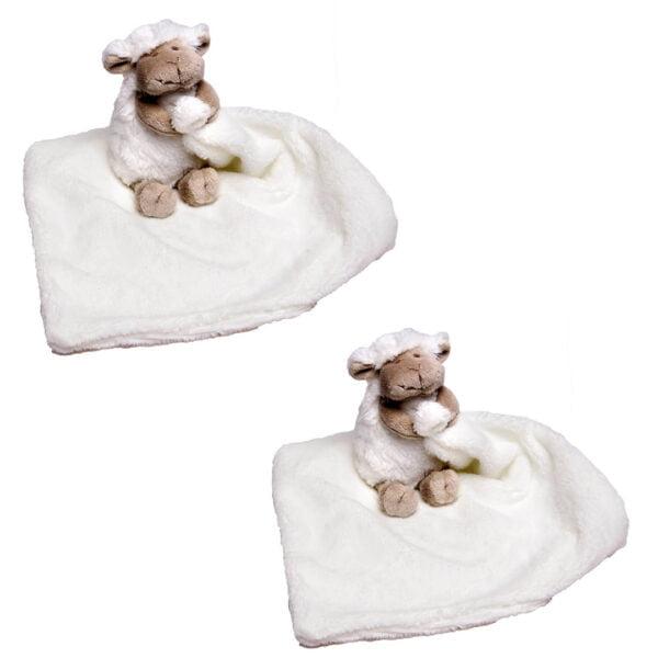 White Chubby Sheep Cuddle Blankets Bundle