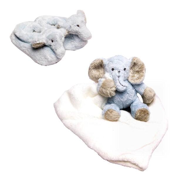 Blue Ellie Cuddle & Slippers Bundle