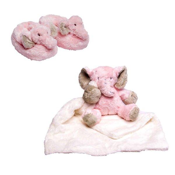 Pink Ellie Cuddle & Slippers Bundle