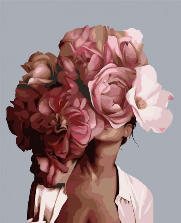 Paint By Numbers - LARGE Flower Girl 5 (Pre-Order)