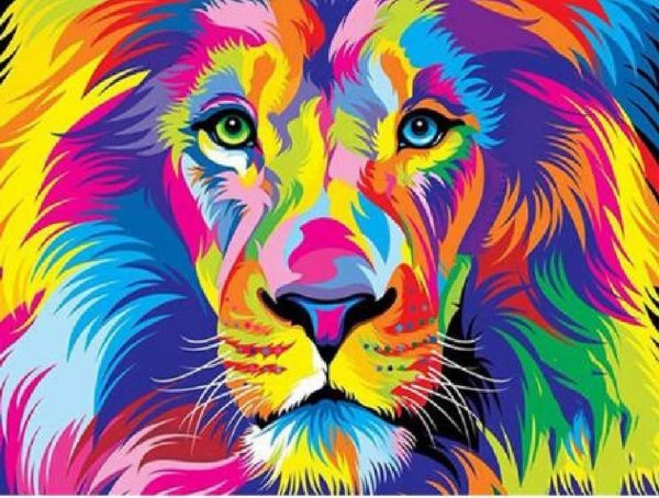 Paint By Numbers - Lion Eyes