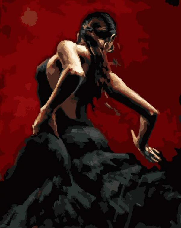 Paint By Numbers - Black Flamenco 1