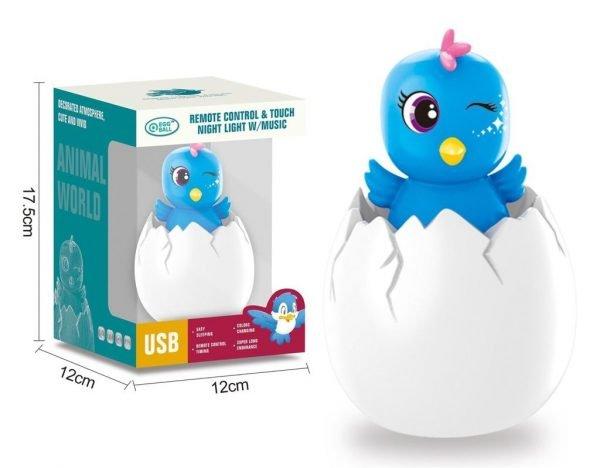 Egg Night Light - Blue Bird