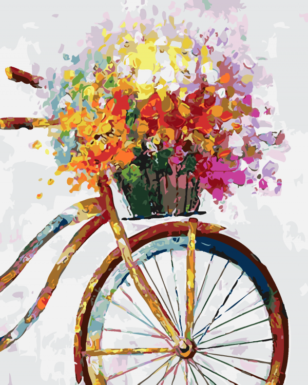 Paint By Numbers - Bicycle Bouquet (Pre-Order)