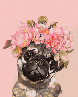 Paint By Numbers - Pretty Pug (Pre-Order)