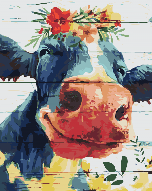 Paint By Numbers - Happy Cow (Pre-Order)
