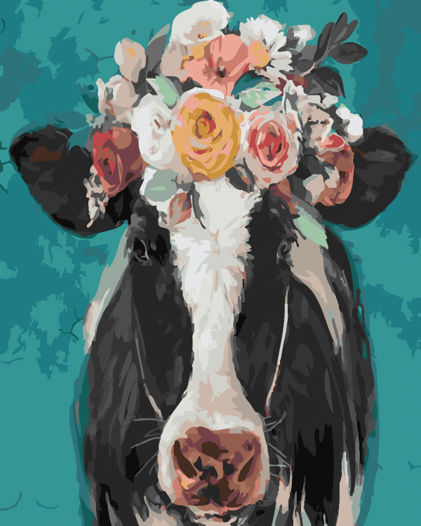 Paint By Numbers - Pretty Cow 2 (Pre-Order)