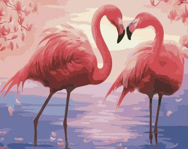 Paint By Numbers - Flamingo Bay